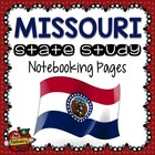 State Study - Missouri State Study Notebooking Pages