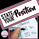 State Your Position - Intro to Persuasion Activity - UPDATED