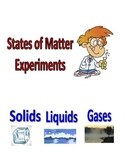 States of Matter Experiments for Elementary Students