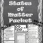 States of Matter Packet *Quiz, Activity, & Study Guide*
