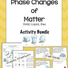 Phase Changes of Matter: Notes, Picture Sort, and Task Cards