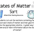 States of Matter Sort Packet (Solid, Liquid, and Gas)
