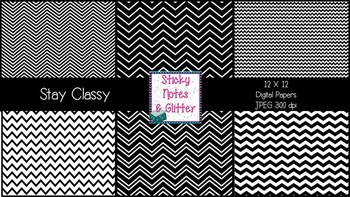 Stay Classy {6 Chevron Digital Papers for Personal and Commercial Use FREEBIE}