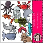 Stephanie's ocean life bundle by melonheadz