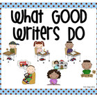 Stick Figure What Good Writers Do Posters: Blue with Choco