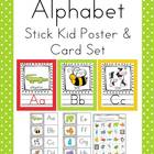 Stick Kids Alphabet Poster Card & Picture Letter Sound Pack