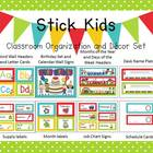 Stick Kids & Polka Dots Classroom Organization and Decor Set