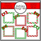 Stitched Christmas Bow Frames {Graphics for Commercial Use}