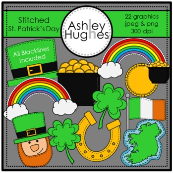 Stitched St. Patrick's Day {Graphics for Commercial Use}