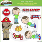 Stop, Drop & Roll Clip Art