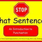 Stop that Sentence: An Introduction to Punctuation for ActivBoard
