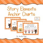 Story Elements Anchor Charts / Posters with a Three Little