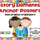 Story Elements Anchor Posters Plus Graphic Organizers