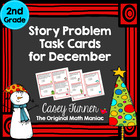 Story Problem Task Cards / Journal Prompts for December