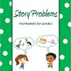 Story Problems - Worksheets for Grade 1