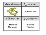 Story Starters - Asian Kung Fu Adventure Story writing aid