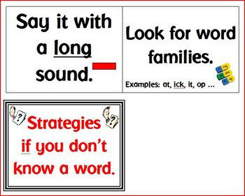 Strategies if you don't know a word cards