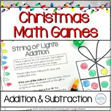 String of Lights Math Games for Addition and Subtraction