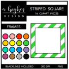 Striped Square Frames {Graphics for Commercial Use}