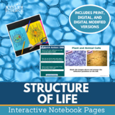 Structure of Life Interactive Notebook Pages - Cells, Body