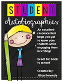 """Student Autobiographies """"All About Me"""""""
