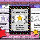 Student Binder or Folder Cover Page - Superstar Theme Mult