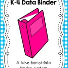 Student Data Binder and Take Home Binder