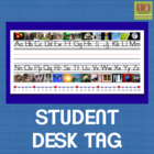 Student Desk Tag With Alphabet and Number Line