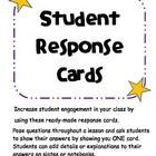 Student Engagement Cards (Student Response Cards)