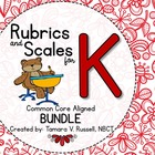 Student Friendly Scales & Rubrics for Kindergarten {COMMON