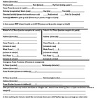 Student Information Sheet- English and Spanish - 1 Page Fo