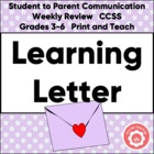 Student Learning Letter: Classroom Management