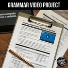 Grammar VIDEO Project: Students become Teachers! (CCSS Mid