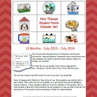 Student Points 2013-14 Monthly Calendar - Pets and Blank Sets