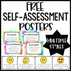 Student Self Assessment Posters {FREE!}