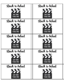 Student Take Home Folder Labels - Movie Theme