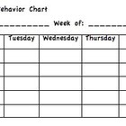 Student Weekly Behavior Chart