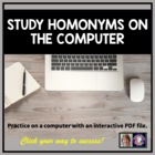 Study Homonyms on the Computer