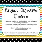 Subject Objective Headers