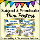 Subject and Predicate Mini Posters