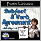 Subject Verb Agreement Practice Worksheet with key