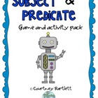 Subjects and Predicates game pack