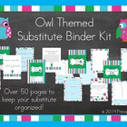 Substitute Teacher Binder - Owl Theme