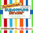 Substitute Binder - School Days Theme - Ultimate Binder Gu