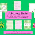 Substitute Teacher Binder- Tiny Turtles