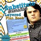 Substitute Teacher Editable Interactive Layered Plan Book
