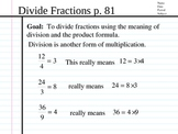Subtract and Divide Fractions, Mixed Numbers