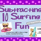 Subtracting 10 Surfing Fun (Common Core Aligned)