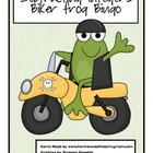 Subtracting Integers Biker Frog Bingo