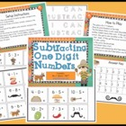 Subtracting One Digit Numbers Math Center Station Game